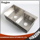 Dirigere il dispersore moderno dell'acciaio inossidabile della cucina della doppia ciotola Handmade di vendita