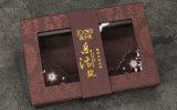 Matt Lamination Logo UV partiel hot stamping carré boîte de papier avec fenêtre