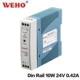 AC 85~264V de Mdr 10W 24V 5A Dinrail au bloc d'alimentation de C.C de 10W 24V