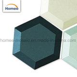 Azulejos de mosaico de cristal esculpidos del hexágono