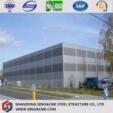 Almacén prefabricado del edificio de marco de acero de las lanas de cristal de fibra