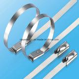 Edelstahl materieller Selbst-Verschluss Kabelbinder in der blanken Farbe