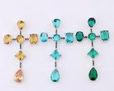 3 Juwelen van de Tegenhanger van de Ontwerpen van de Halsband van het Zirconiumdioxyde van kleuren de Dwars Recentste