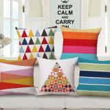 Des séries géométriques colorées Housse de coussin de linge en coton épais (35C0240)