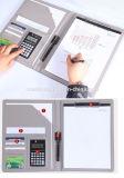 Omslag Van de bedrijfs handel de Uitvoerende van het Document met de Calculator van de Blocnote van het Klembord