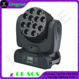 Feixe movente 12X12W do diodo emissor de luz da cabeça do estágio RGBW 4in1 do DJ mini