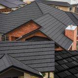 Material de construcción metálica recubierta de piedra de la hoja de techos de metal