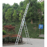 Scaletta telescopica dell'alluminio di combinazione del basamento dell'albero delle scalette di piegatura di fuga di punti 3*8 6m