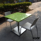 Praça moderna mesas de jantar em acrílico de pedra artificial (170506)