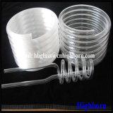 Tubulação helicoidal opaca do vidro de quartzo do silicone da pureza elevada