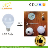 De Aluminio de plástico de 3W Bombilla LED 5W Bombilla LED partes