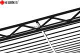 耐久財3の棚は金属線の台所カバー食料貯蔵室のスプーンラック構成を黒くする
