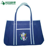 Sacs à provisions faits sur commande de fantaisie d'emballage de sac à main de toile de couleur avec la poche avant