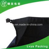 Venta caliente Eco friendly largo mango Standared Cordón de ajuste de tamaño pequeño de la bolsa de lienzo de algodón