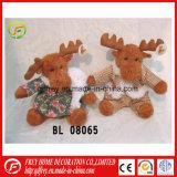 Les enfants de jouets en peluche Animal Brown Deer pour cadeau de Noël