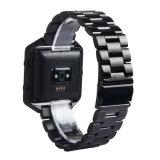De Manchet van Band&Frame van het Horloge van de Sport van het Metaal van het roestvrij staal voor de Drijver van de Uitbarsting Fitbit