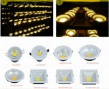 Cuadrado de 12W Downlight Epistar LED de la mazorca con chip de 23*23mil (AW-TD035B-4F-12W)