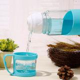 مبتكر سليكوون فنجان مجموعة من [بورتبل] سفر طالب [وتر بوتّل] زجاجيّة مع فنجان صغيرة