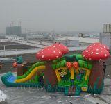 물 미끄럼 상업적인 팽창식 결합 의 딸기 디자인 Moonwalk, 공기 풍선