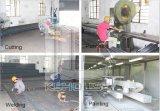 Casa prefabbricata chiara della struttura d'acciaio per l'operaio