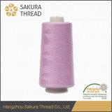 Резьба полиэфира умеренной цены 100% Sakura Oeko-Tex закрученная сердечником