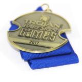 Comercio al por mayor costumbre militar Premio 3D de la medalla de metal con cinta