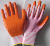 13G Zebra Polyester Shell Nitrile Coated Gloves Safety Gloves Working Gloves、FlexibleおよびDexterous