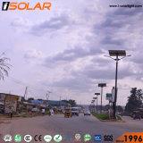 Brazo de doble lumen Solar lámpara LED de alta en el exterior de la luz de la calle