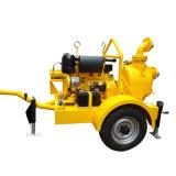 Motor diesel de 3 pulgadas de aguas residuales Bomba centrífuga horizontal