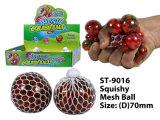 Chaud nouveau drôle Balle Squishy Mesh& Squeeze avec des perles de Jouet Jouet à billes
