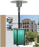 Stand Squre Chauffage de terrasse avec poteau en acier inoxydable et corps en acrylique avec brûleur Normal