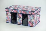 صغيرة نوع خيش [أإكسفورد] بناء يطوي [ستورج بوإكس] مع اثنان يقسم مكعّب وعاء صندوق