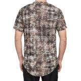2018 Nova chegada homens ronda casual da curva do pescoço dele camisola T