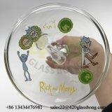 Rick-und Morty Glasbecher-Pfeife-unbesonnenes Glaswasser-Rohr für GroßhandelsJlb-41