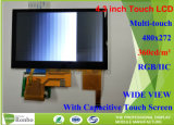 4.3 pulgadas, 480X272 Módulo LCD industriales panel táctil capacitiva de pegado de Producto Digital