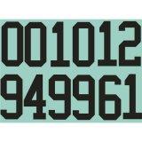 高品質OEMジャージー番号熱伝達の印刷のステッカー