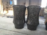 Кладбище похороны ваза черного гранита Flower Pot