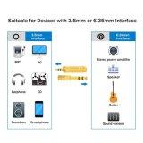 Kopfhörer-Adapter 6.35 mm-Mann zum 3.5 mm-weiblichen Stereoadapter plus den 3.5 mm-Stereomann zu 6.35 mm Stereolithographie
