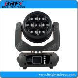 Super Mini 7*15W LED Wash Zoom moviendo la cabeza de la luz de la etapa