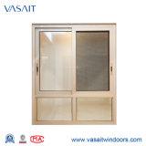Hermoso diseño de alta calidad de la ventana corrediza de aluminio con pantalla de mosquitos