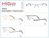 Voorraad van de Frames van het Metaal van de Randen van de lage Prijs de Vierkante Halve Optische