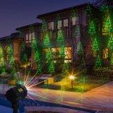 De rode Groene Laser van de Tuin van de Motie met Spectaculaire het Licht van de Vakantie