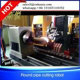 Coupeur de profil de pipe de commande numérique par ordinateur en métal de 5 axes, machine de découpage de plasma