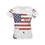 Vêtements faits sur commande estampés de femmes du T-shirt classique des femmes premiers