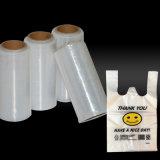 Película plástica azul desobstruída da embalagem do polietileno