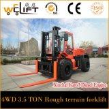 4X4 ruwe Diesel van het Terrein Vorkheftruck