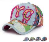 Boné de beisebol da sarja de Nimes de Nyc 3D Embroideried do logotipo, tampão feitos sob encomenda do esporte, tampão do lazer, no vários tamanho, material e projeto