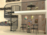 アルミニウムモジュラーガラス螺旋階段または螺線形Staircase/DIYの螺旋階段キット