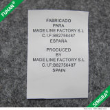 Étiquettes imprimées imprimées satinées pour vêtements