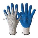 13G Chineema связало перчатки отрезока упорные при голубая покрынная ладонь латекса Crinkle